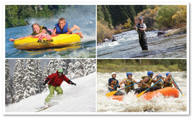 From water sports to fly fishing or snow skiing, it's only a short drive from Salida.