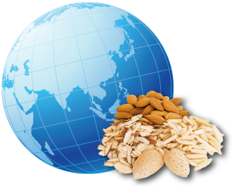 Almonds around the globe