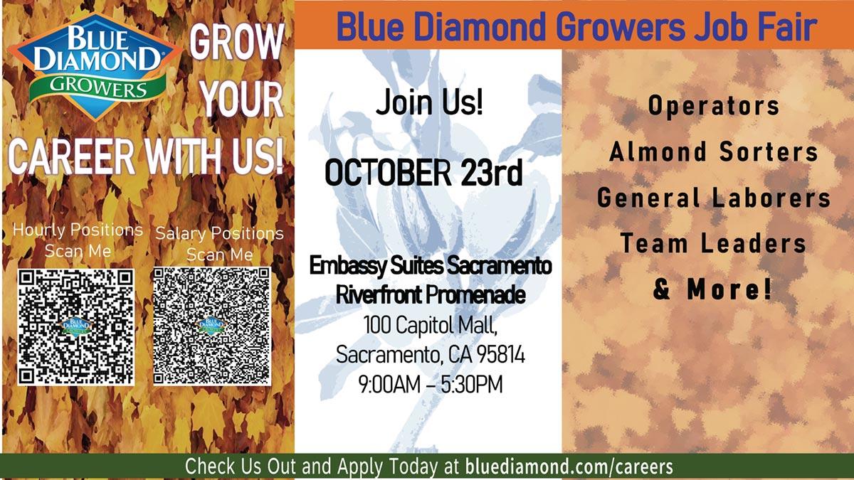 Blue Diamond Growers Job Fair October 23, 2021